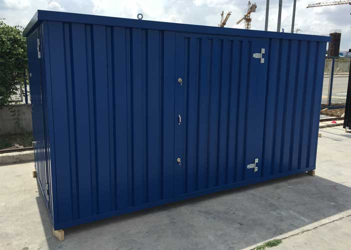 Kwik - Store. Specially designed storage units, man portable, all the sections are easily moved by two people allowing them to be installed where needed even in the most inaccessible areas.